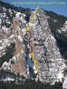 Rock Climbing Photo: Skiing the 3rd.