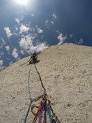 Rock Climbing Photo: High on the Beckey Route on the Bastille Buttress ...