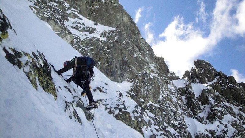 Rock Climbing Photo: Start of the crux pitch.