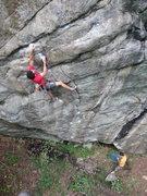Rock Climbing Photo: A nice 12a/b on Rock House Knob near Pickens Nose....