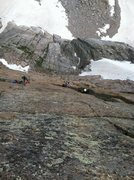 Rock Climbing Photo: Matt Pierce following the beautiful crux pitch on ...