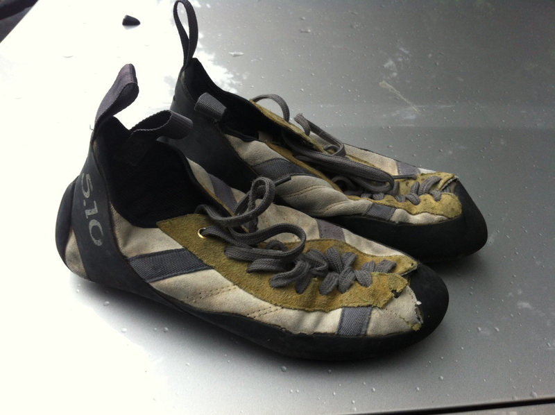 Found: 5.10 climbing shoes