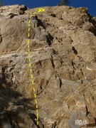 Rock Climbing Photo: Climb up the left side of the steep face at the ma...