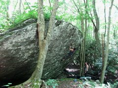 """Rock Climbing Photo: Parlier on the FA of """"Cool Hand Luke"""""""