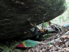 "Rock Climbing Photo: Parlier on the FA of ""Outlaw"""