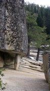 River right, top of Bridalveil Falls in Yosemite
