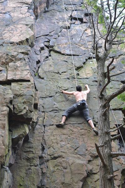 Rock Climbing Photo: Fun face climb.