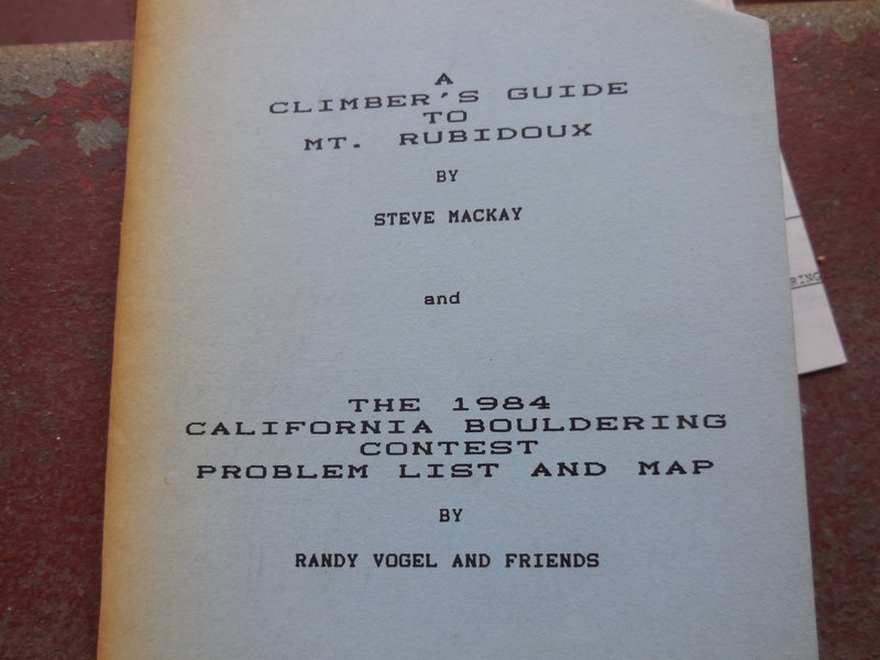 Rock Climbing Photo: Steve Mackay's Mt. Rubidoux Guide, circa 1976 (rep...