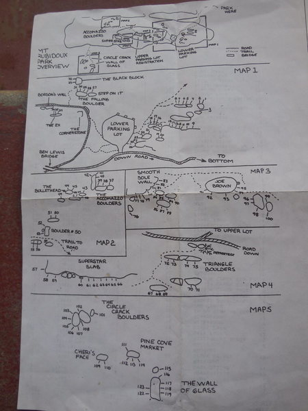 1984 CA Bouldering Contest overview map.