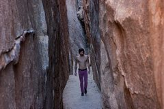 Rock Climbing Photo: Walking down the Hall of Horrors. Photograph by Ch...