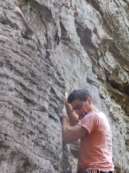 Rock Climbing Photo: Excellent place to hold a draw on Boltergeist 5.10...