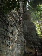 Rock Climbing Photo: Sean on plate tectonics 5.10a
