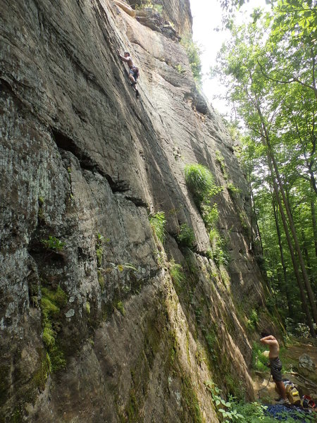 Rock Climbing Photo: Climbing Manic Impression 5.10a