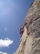 Rock Climbing Photo: me on the last pitch variation