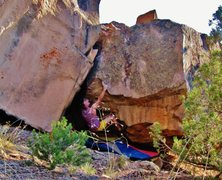 Rock Climbing Photo: Making the first move to the incut edge on Paleoco...