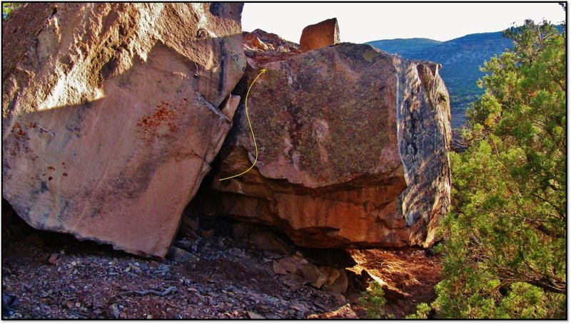 Rock Climbing Photo: Paleocontact problem beta.