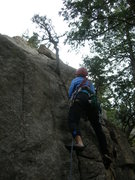Rock Climbing Photo: Deb chooses her rehab going up Fiona's Route.