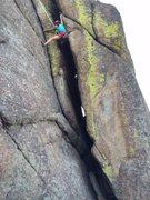 Climbing TR on Weasel Boy.