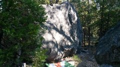 Rock Climbing Photo: Stress Management Boulder. Warm up slab. There are...