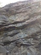 Rock Climbing Photo: Tossed salad.  This is the first bolted route on t...