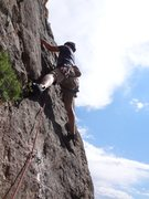 Rock Climbing Photo: Sean on the onsight first ascent.