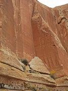 Rock Climbing Photo: The pillar and route.