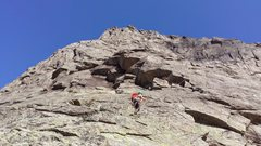Rock Climbing Photo: View up the first pitch