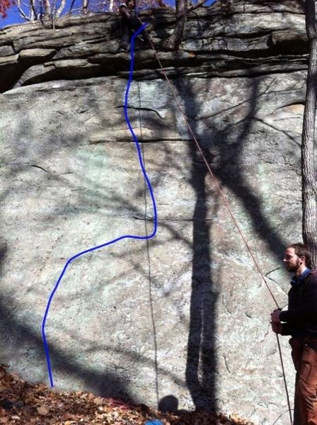 Rock Climbing Photo: Justin at the top of the TR FA of Gentlemen Return...