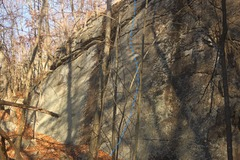 Rock Climbing Photo: Too Many Video Games, 5.12a. The trees block the o...