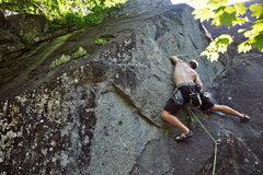 Rock Climbing Photo: Seth leading