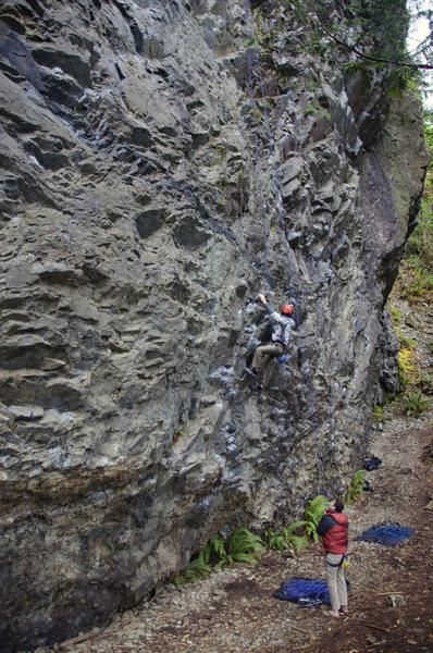 Rock Climbing Photo: Jeff climbing