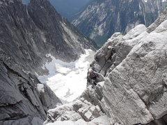 Rock Climbing Photo: Lower gully