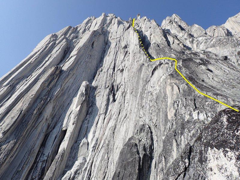 Rock Climbing Photo: Upper gully