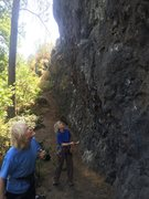 Rock Climbing Photo: Local climbers at the main wall. It was great to m...