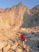 Rock Climbing Photo: The east Face seen from the approach once you turn...