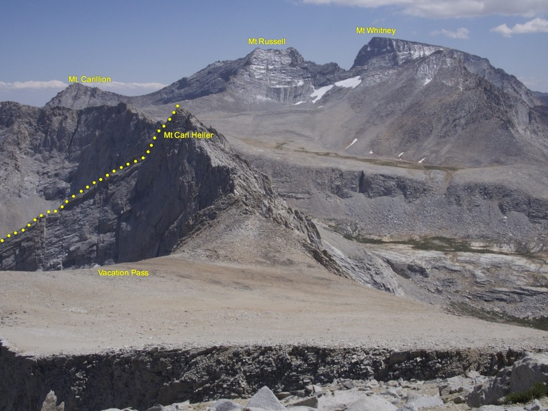 Profile of the East Arete from north of Vacation Pass