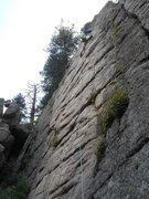 Rock Climbing Photo: Carl Pluim on Rubber Chicken, Boulder Canyon, Spor...