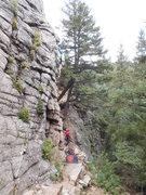 Rock Climbing Photo: Carl Pluim on Daddy Blocker, Boulder Canyon, Sport...
