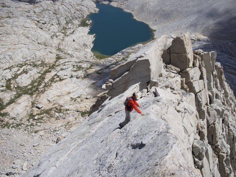 Jediah Porter Descending the East Arete