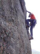 Rock Climbing Photo: Matt on the FA.