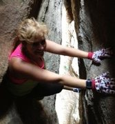 Rock Climbing Photo: One of my first times to do anything on the rock o...