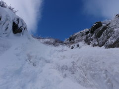 Rock Climbing Photo: Nearing the top of south gully