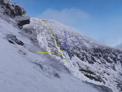 Rock Climbing Photo: Clear view of Damnation gully from across the ravi...