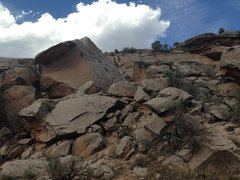 Rock Climbing Photo: Middle Boulder from the road