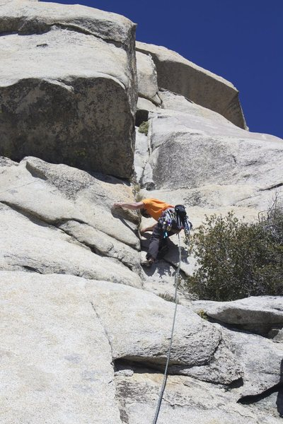 Rock Climbing Photo: Crux of the route