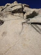Rock Climbing Photo: Stay to the right of the first roof-feature and he...