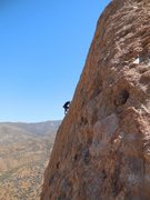 "Rock Climbing Photo: Surfing the upper arête of ""Bilbo Surfs Galv..."