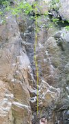 Rock Climbing Photo: Route Line with arrows at bolts