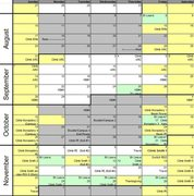 Rock Climbing Photo: Schedule
