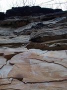"Rock Climbing Photo: Shot of 1 of the 2 routes we played on ""Doubl..."